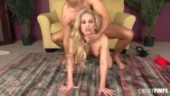 Live nude xxx webcams This blonde milf keeps her stockings on while she gets fucked live