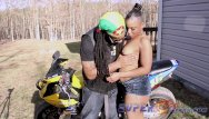 Super ebony ass - Ebony whore gives don whoe head on his bike