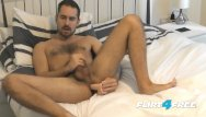 Free gay fucking and cum - Flirt4free antonio west - bearded hunk fucks his ass and cums on hairy abs