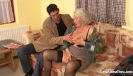 Mature granny porn tube - Granny is still quite a skilled cock pleaser