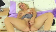 Woman with a share dildo British lily milf shares her fuckable fanny with us
