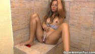 Brazilian woman sex - These latina moms love to have some fun in the bathroom