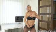 Gallery white pantyhose - Euro milf kathy white gives her pantyhosed pussy a treat