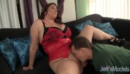 Angel massages boobs - Big boob plumper angel deluca fucks a guy with her tits and pussy
