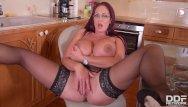 Alexis busty brits - Curvy kitchen masturbation - sultry brit sucks massive tits