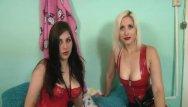 Free latex porn photos - Fabulous lesbian babes having fun with their toys