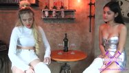 Wieden germany asian restaurant Fetisch-concept com - 2 girls with long cast legs in restaurant