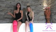 Sex naughty girls Fetisch-concept com - 2 girls with long cast legs in jacuzzi