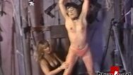 Vintage femdom spanking video Lesbian femdom playing with her restrained submissive