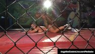 Cage sex video - Cuban sex queen angelina castro grinds bbc in a cage fight