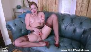 Vintage brown leather - Dirty blonde lucy lauren masturbates in her vintage brown nylons stilettos