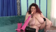 Two girl trying out fucking machines - A fucking machine reams out the pussy of fabulous fat girl stazi
