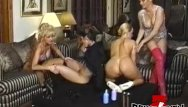 Vintage glamour girls fetish - Vintage dykes group stretching their asses with many toys