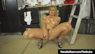 Natalia bush lesbo Smoking hot natalia starr bangs her bush in garage with tool