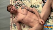 Naked male twinks anus - Tattooed homosexual thug jerks his small cock off solo