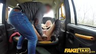 Dildo seat - Fake taxi sweet blonde milf fucked through ripped tights on back seat