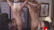 Free vintage film downloads Perfect ass lesbian babes turn around for anal dildo fucking