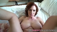 Withdrawing my cock from her - Horny busty milf andy fucks her step sons big cock