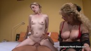 Double action swinging doors - Pale blonde fucks with an older swinging couple