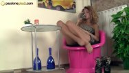 Girls with beautiful faces foot fisting Barefoot redhead puts her feet and her panties in your face