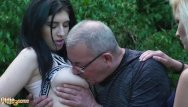 Teen wanking tube - Grandpa caught wanking by 2 teens and gets best threesome in his life