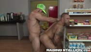 Gay adult book store - Ragingstallion muscle hunk daddy analized his friend in a store