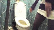 In movie toilet voyeur - Asian young girl voyeur toilet peep movie