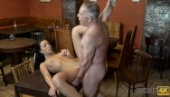 Fairy attractive aggressive babes xxx - Daddy4k. old man with boner penetrates attractive girl right on table