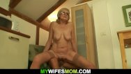 Ny wife sucking young cocks - Old blonde sucking and riding his young cock