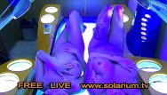 Amateur digital tv - Two hot horny girls with hidden camera filmed in the public solarium