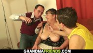 Older grandmas fucking - Two buddy fuck older big boobs plumper