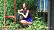 2 girls bus fuck Pretty brunette is nearly caught pissing in a bus stop