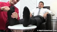 Kissed my gay friend tension - Hunk leo giamani wanks off to sight of toe sucking