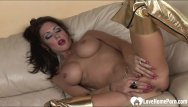 Horny wife strips at party Horny busty wife strips and masturbates passionately