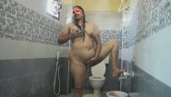 Shower porn fantisies Desi bhabhi fingering her hairy pussy while in shower