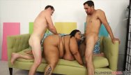 Cotton candy dildo Huge tit ebony bbw cotton candi gets double teamed