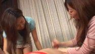 Asian cfnm handjob Jav cfnm bound for femdom handjob with cumshot subtitles