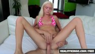 Try a huge cock Reality kings - blonde spinner halle von tries to deepthroat huge cock
