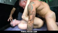 Gay porn butts Familydick - muscled stepdad pounds his stepsons butt