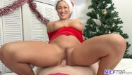 Lesbian girl santa outfit ass sleep - Milf trip - thick milf in santa outfit gets facialized - part 1
