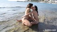 Erotic beach beauties Erotic amateur lesbian sex on the beach