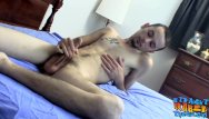 Twink bedroom Young deviant wiley relaxes with bedroom masturbation