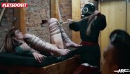 Lesbian office feet youtube - Letsdoeit - rough bondage and feet worship for german lady officers