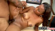 Big black delivery porn - Cute black delivery girl michelle malone gets a hard cock for her troubles