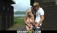 70 s busty galleries Busty 70 years old blonde granny takes cock in the changing room