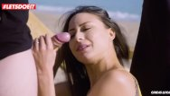Voyeaur beach sex Letsdoeit - french babe fucks a voyeur on the beach