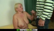 Hung chubby Hung guy fucks big tits blonde mother inlaw