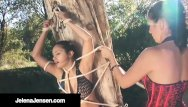 Aria giovani naked Femdom jelena jensen ties aria giovanni to a tree