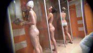 Men in shower lockeroom naked - We hide camera to spy on naked girls