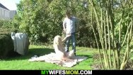 Sex with girlfriends mom Cheating outdoor sex with girlfriends old blonde mother